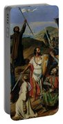 Procession Of Crusaders Around Jerusalem Portable Battery Charger