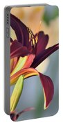 Profile Of A Day Lily Portable Battery Charger