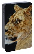 Profile Of A Lioness Portable Battery Charger