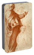 Profile Study Of A Standing Saint Holding A Book With Subsidiary Studies Of Three Additional Figures Portable Battery Charger