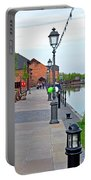 Promenade And Boats At Barton Marina Portable Battery Charger
