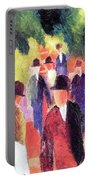 Promenade II By August Macke Portable Battery Charger