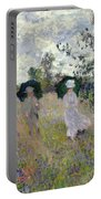 Promenade Near Argenteuil Portable Battery Charger by Claude Monet