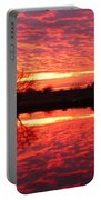 Dramatic Orange Sunset Portable Battery Charger