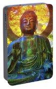 Protection Buddha #2 In Japanese Tea Garden At Golden Gate Park - San Francisco Portable Battery Charger