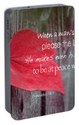 Proverbs 16 V 7 Portable Battery Charger