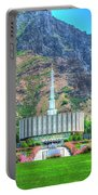 Provo Utah Temple Portable Battery Charger