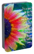 Psalms 92 1 2 Portable Battery Charger