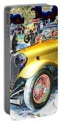 Psychedelic 1930 Jaguar Ss1 At London Classic Car Show 2015 Portable Battery Charger