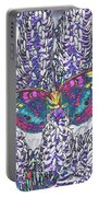 Psychedelic Butterfly Portable Battery Charger