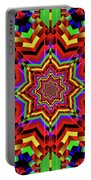 Psychedelic Construct Portable Battery Charger