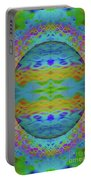 Psychedelic Egg Groovy Portable Battery Charger