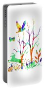 Psychedelic Forest Portable Battery Charger