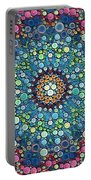 Psychedelic Mandala Portable Battery Charger
