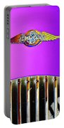 Psychedelic Morgan 4/4 Badge And Radiator Portable Battery Charger
