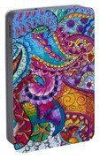 Psychedelic Paisley Portable Battery Charger