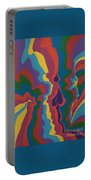 Psychedelic Skull Portable Battery Charger