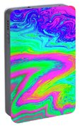 Psychedelic Swirl Portable Battery Charger