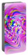 Psychedelic Swirls On Lollypop Pink Portable Battery Charger