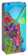 Psychedelic Violinist Portable Battery Charger