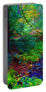 Psychedelicosmic Creek On Mt Tamalpais Portable Battery Charger