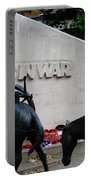 Public Memorial Honoring Military Animals In War London England Portable Battery Charger