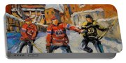 Puck Control Hockey Kids Created By Prankearts Portable Battery Charger