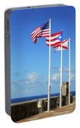 Puerto Rican Flags Portable Battery Charger