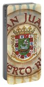 Puerto Rico Coat Of Arms Portable Battery Charger by Debbie DeWitt