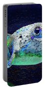 Puffer Fish Portable Battery Charger by Jane Schnetlage