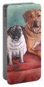 Pug And Rhodesian Ridgeback Portable Battery Charger