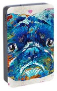 Pug Love Dog Art By Sharon Cummings Portable Battery Charger