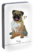 Pug Pop Art Portable Battery Charger