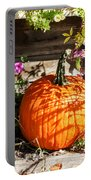Pumpkin And Flowers Portable Battery Charger