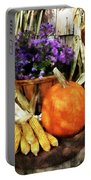 Pumpkin Corn And Asters Portable Battery Charger
