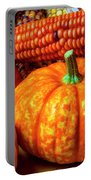 Pumpkin Corn Still Life Portable Battery Charger