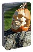 Pumpkin Skull Portable Battery Charger