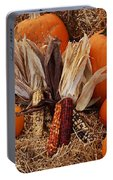 Pumpkins And Corn Portable Battery Charger
