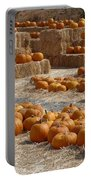 Pumpkins On Bales Portable Battery Charger