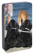 Puppies On The Beach Portable Battery Charger