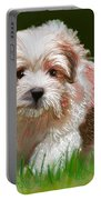 Puppy In High Grass Portable Battery Charger