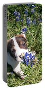 Puppy In The Blubonnets Portable Battery Charger