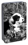 Puppy In The Leaves Portable Battery Charger