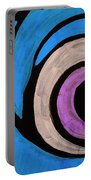 Purple And Blue Eyeball In Saint Augustine Florida Portable Battery Charger