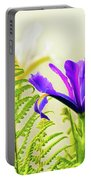 Purple And Blue Iris Portable Battery Charger