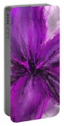 Purple And Gray Art Portable Battery Charger
