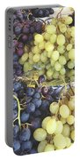 Purple And Green Grapes Portable Battery Charger