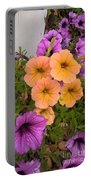 Purple And Peach Portable Battery Charger