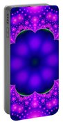 Purple And Pink Glow Fractal Portable Battery Charger