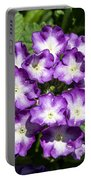 Purple And White Bouquet Portable Battery Charger